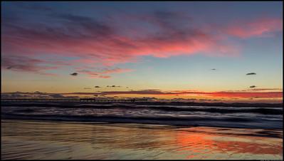 Sunset at the Ocean Beach pier.