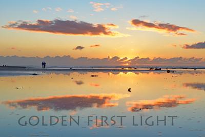 Sunset, Morro Rock Beach, California