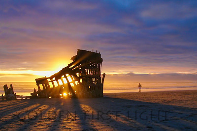 Wreck of the Peter Iredale Sunset, Oregon