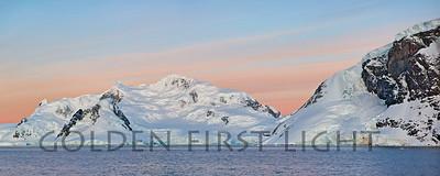 Andvord Bay, Antarctica, Sunset