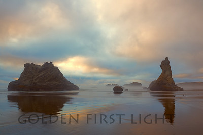 Sea Stacks at Low Tide, Bandon Oregon