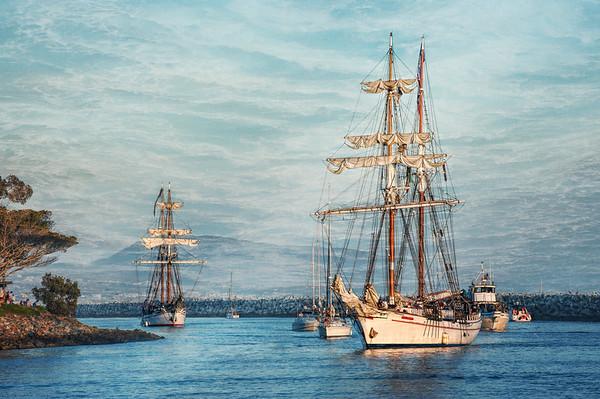 Ocean, Ships and Sealife Digital Painting Fine Art