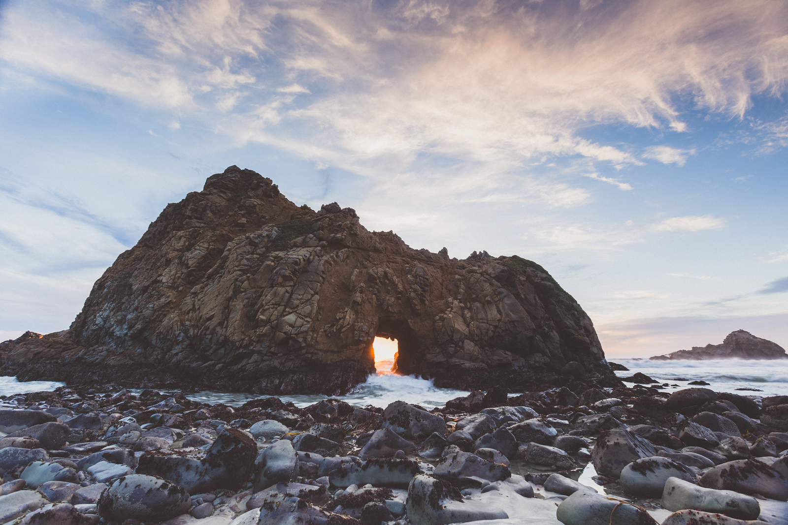 Keyhole Rock Pfeiffer Beach, Big Sur, California