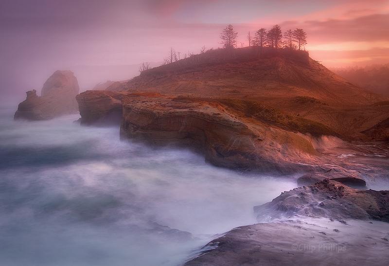 """Cape Kiwanda Mist""  A beautiful misty, winter morning out on Cape Kiwanda. Pacific City, Oregon Coast"
