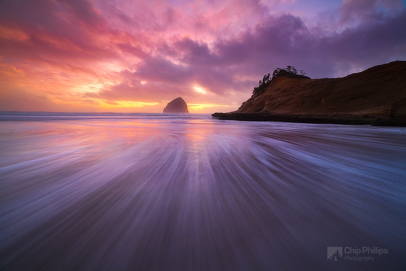 """Haystack Rock and Cape Kiwanda Sunset"""