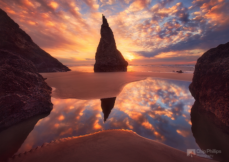 """Wizards Hat, Bandon, Oregon Coast""
