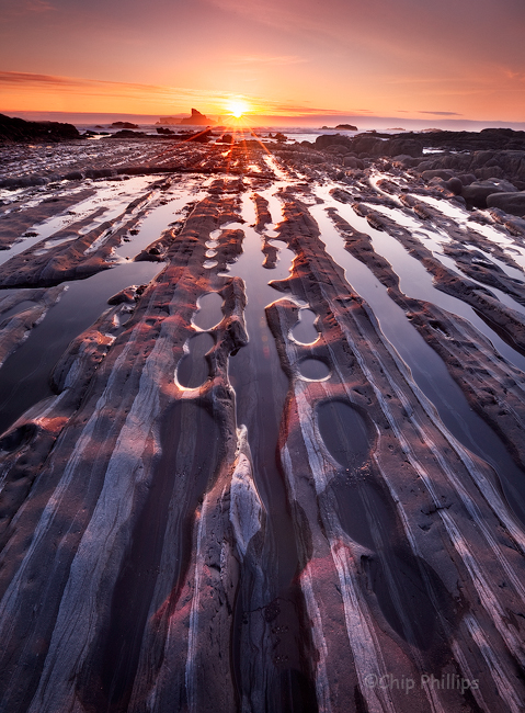 """""""Olympic Beach Rows""""  Rock rows on a beach in the Olympic National Park, Washington State."""