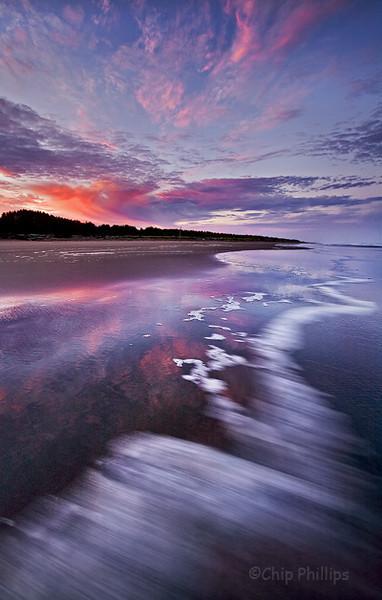 """Long Beach Sunrise""  Reflections in the sand at sunrise. Washington Coast"