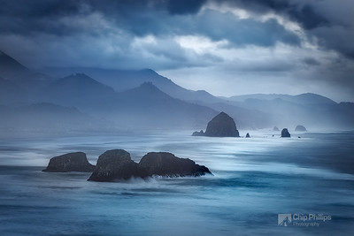"""Ecola at Dawn""  A stormy morning in Ecola State Park, just North of Cannon Beach, Oregon."
