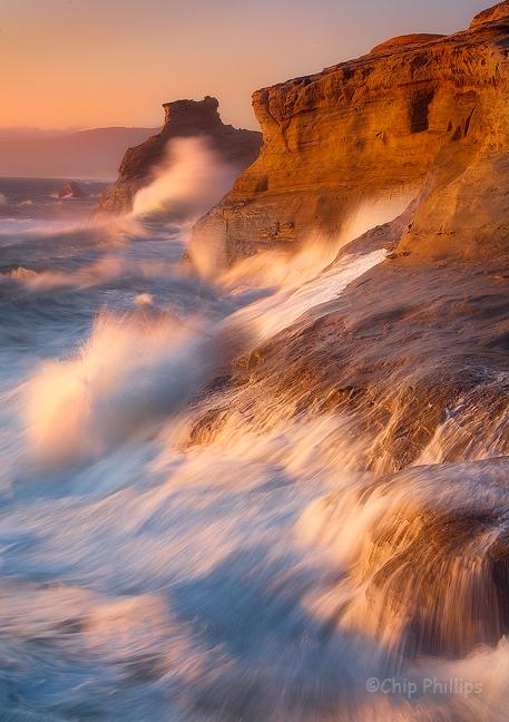 """Cape Kiwanda Crashing""  A very rough evening out on Cape Kiwanda. Pacific City, Oregon Coast"