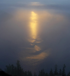 Smile of the sunrise. Crater Lake, OR