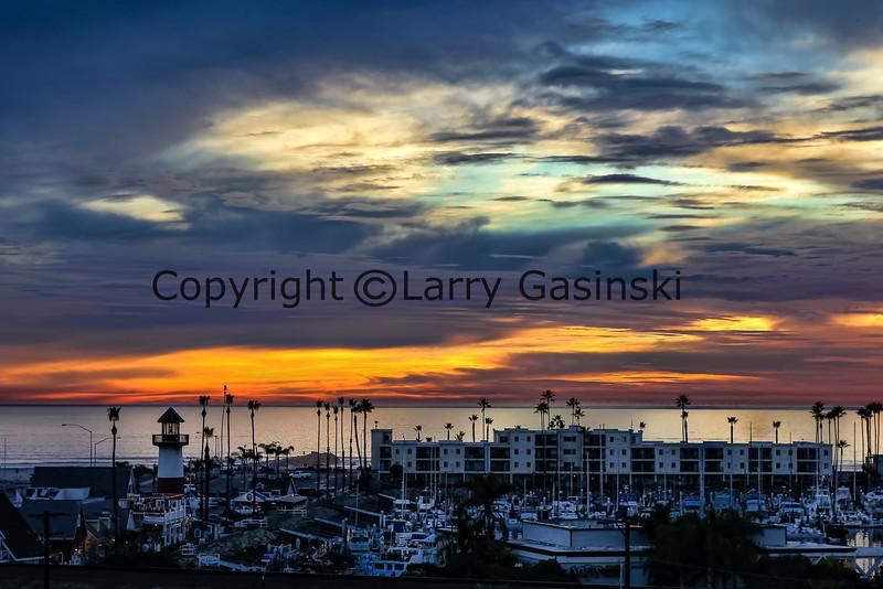 Oeanside Harbor Sunset, Oceanside, CA.