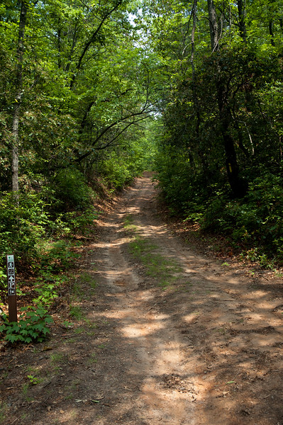 This trail follows the Cherokee boundary referred to on the marker at Oconee State Park
