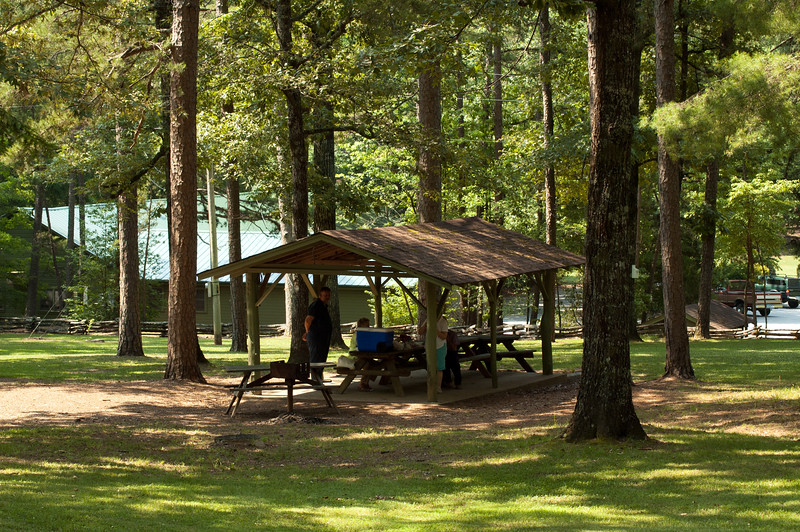 Picnic table shelter at Oconee State Park