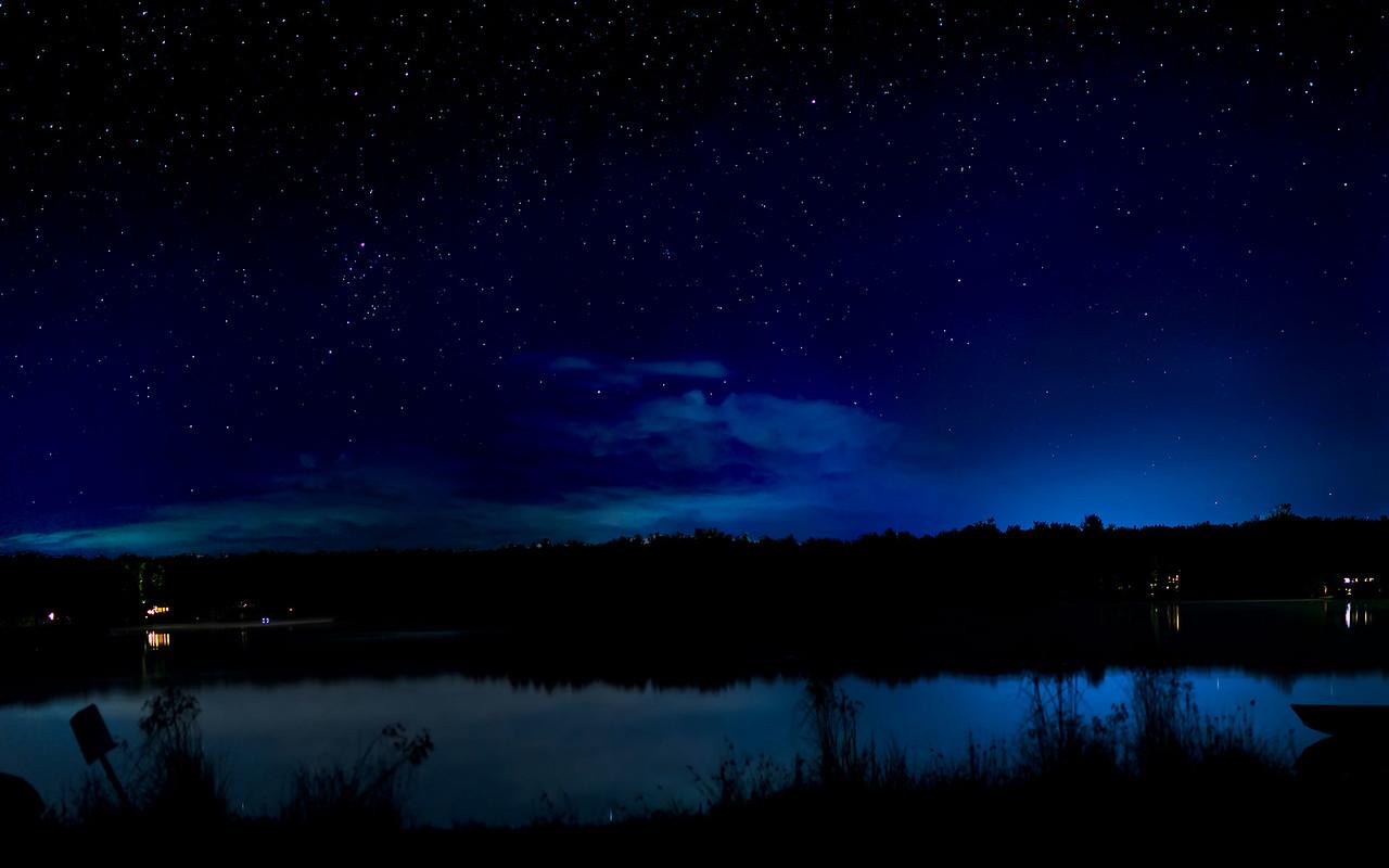 Night sky over Pines Lake 1920x1200