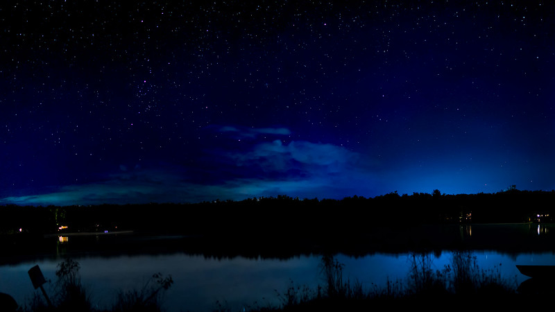 Night Sky over Pines Lake 1920x1080