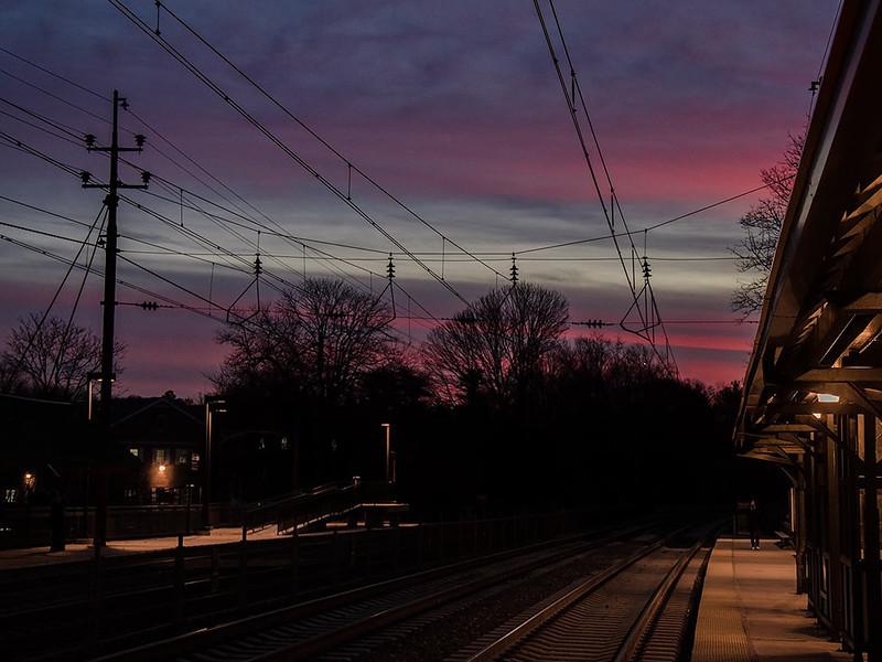 Radnor Station Sunset - 1024x768