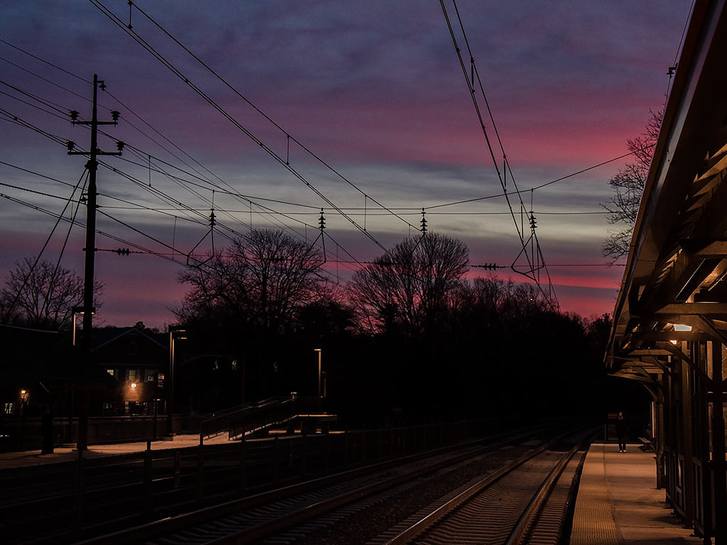 Radnor Station Sunset - 1024x768