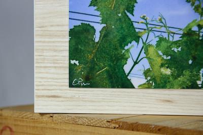 """""""Vine Symphony"""" closeup of wood/print."""