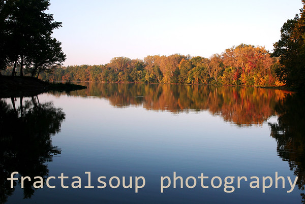 Beautiful Autumn Colors Reflected in a Peaceful Lake