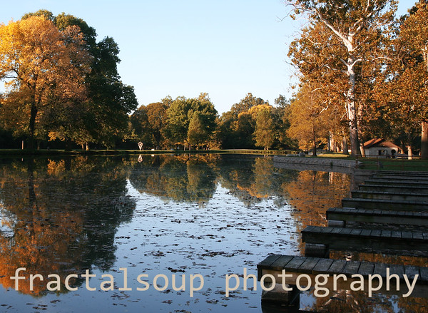 Beautiful Autumn Lake Scene with Dock