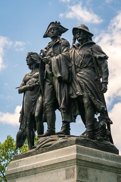 Statue at Fallen Timbers Battlefield