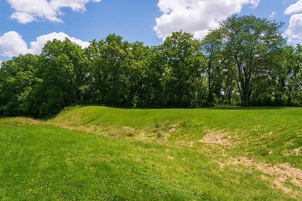 Dug Trench at Fort Miamis National Historic Site