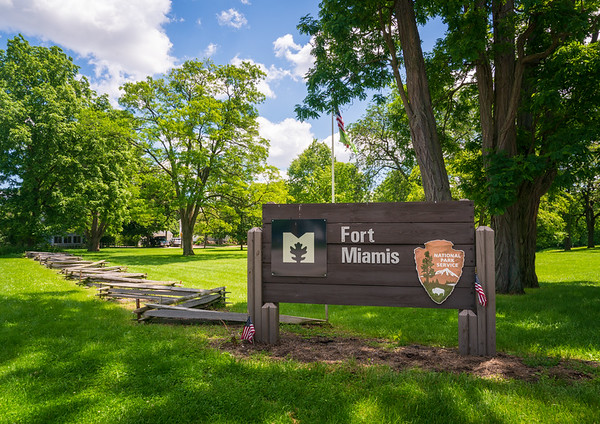 NPS Welcome Sign at Fort Miamis National Historic Site
