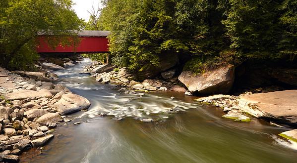 Covered Bridge at Slippery Rock Creek