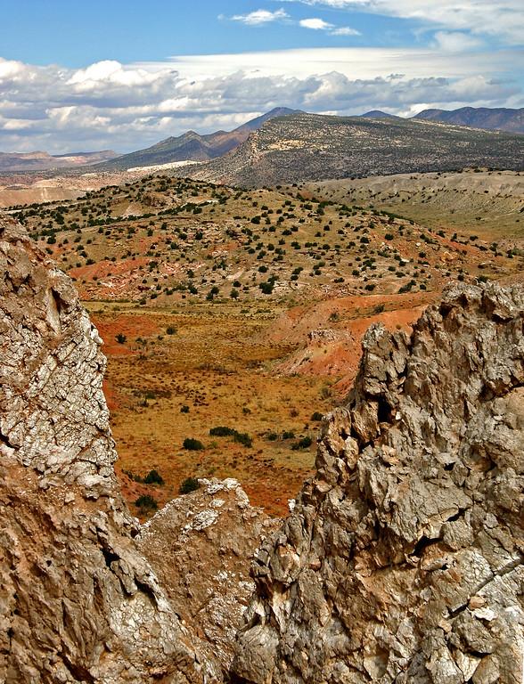View through break in Gypsum rock