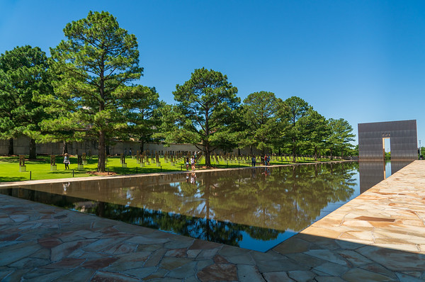 Monument and Reflection Pool at Oklahoma City National Memorial