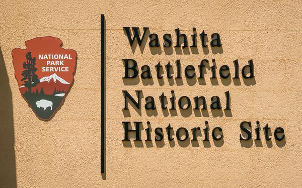 National Park Service Sign at Washita Battlefield National Historic Site