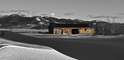 Cline Ranch Barn in the Winter, Colorado
