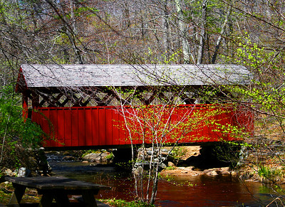 covered bridge, chattfield hollow, state parks, park, river, old, bridge, CT., covered