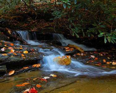 One of the many wonderful waterfalls scattered around Hanging Rock State Park. Taken in October.