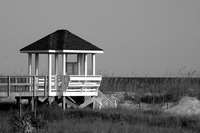 Gazebo at Oak Island Beach North Carolina