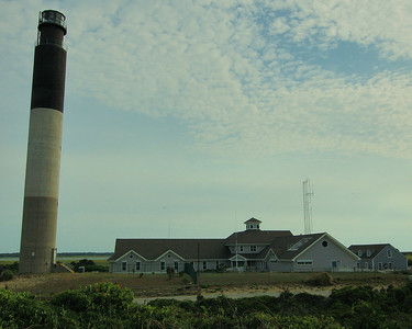Oak Island Lighthouse and Coast Guard Station. Caswell Beach North Carolina