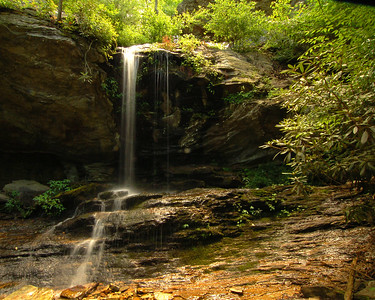 Hidden Falls at Hanging Rock State Park
