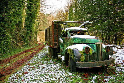 "This is a 1941 Studebaker truck and the picture was featured in the September issue of Shutterbug Magazine on the Talking Picture page back in 2008. The caption was, ""I Have Seen Better Days"". He has lost both eyes, or I mean headlights. The wires were still there and hanging out of the sockets."