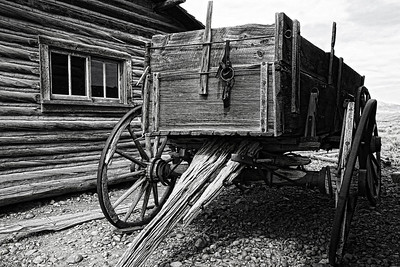 Old West #3 Wagon Blk/Wht