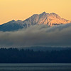 Olympic Mountains in the am