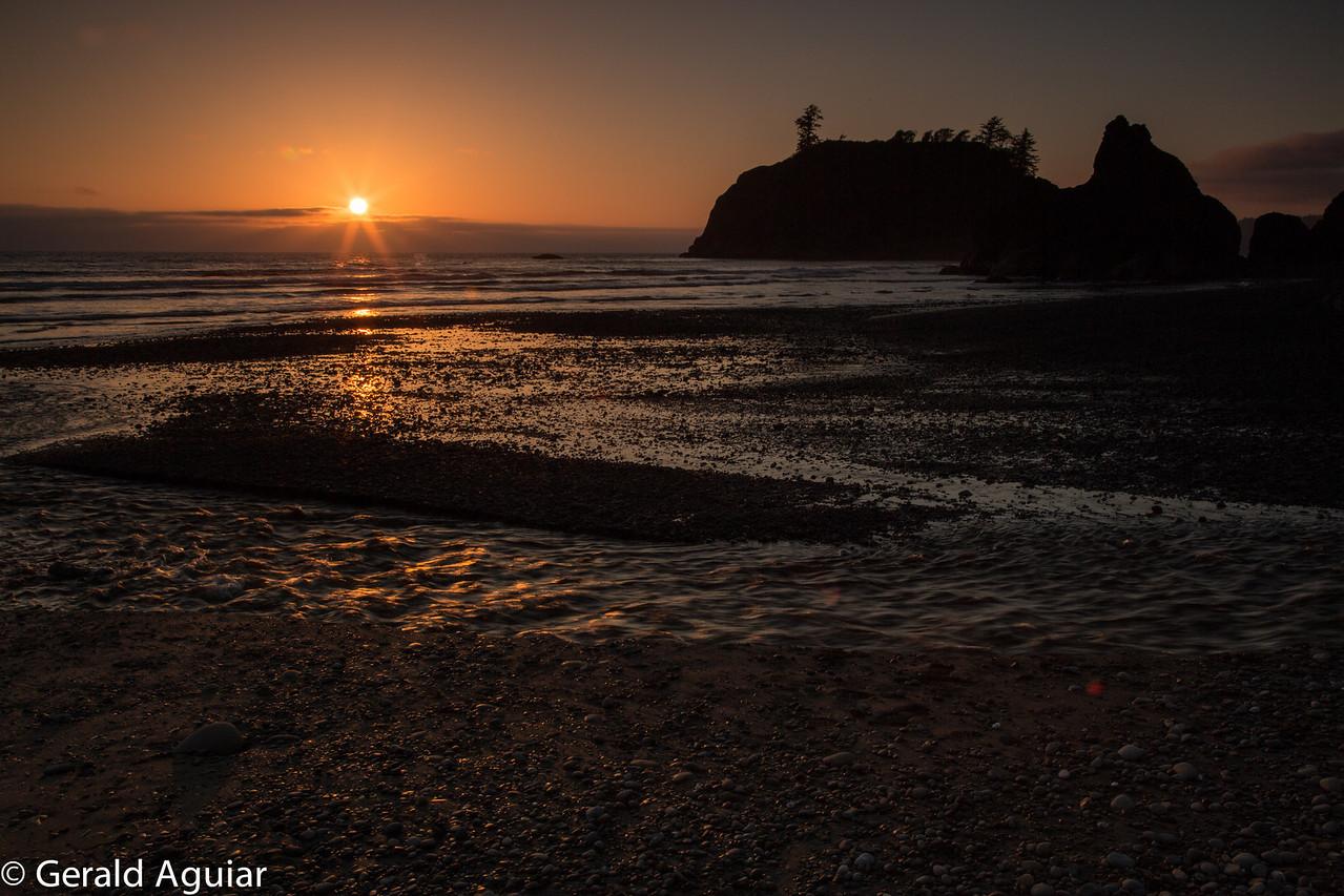 Sunset at Ruby Beach.