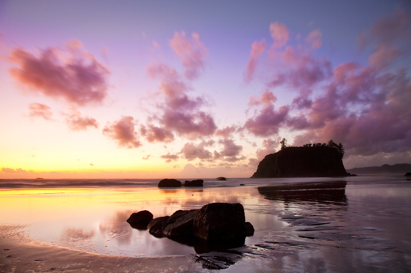 Sunset at Ruby Beach, Olympic National Park, WA
