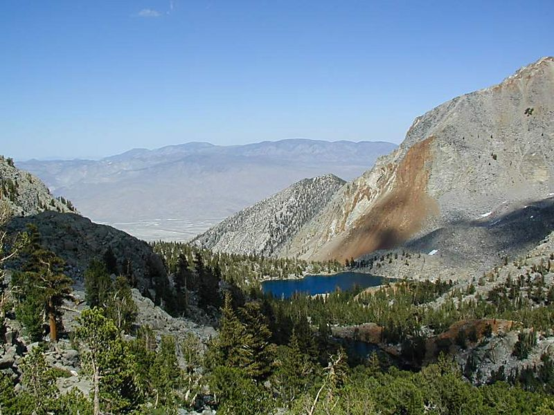 Sawmill Lake and the Owens Valley, eastern Sierra Nevada, California