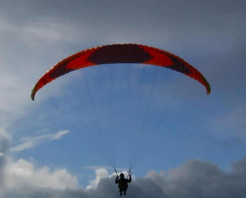 Hang-gliding over Port Townsend, Washington