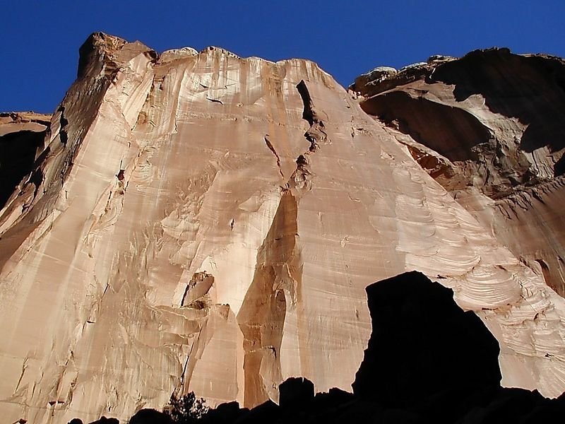 Canyon Wall Patterns, Sun, and Shadows, Capitol Reef Nat'l Park, Utah
