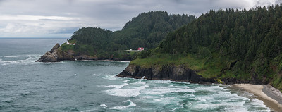 Heceta Head Lighthouse and former residence (now the residence is a B&B).