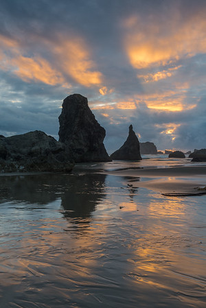 Sunset at Bandon Beach.