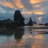 Sunset at Bandon Beach.
