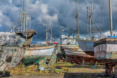 Charleston Shipyard, also know as the Ship Graveyard